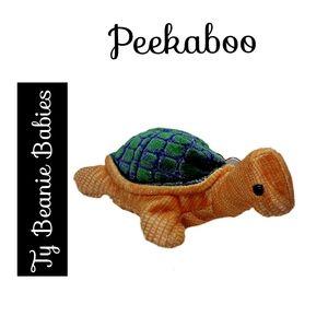 🔴 15/$25. Ty Beanie Babies ~ Peekaboo the Turtle